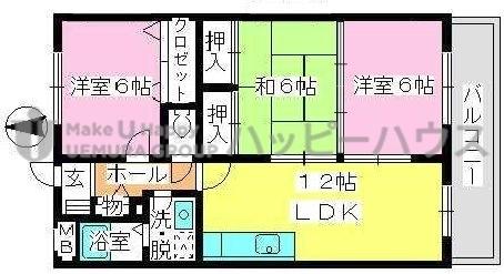 エクセレント中嶋Ⅱ / 303号室間取り