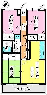 シャルム瑞雲 / 203号室間取り