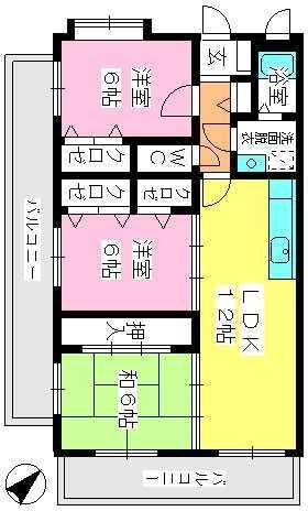 シャルム瑞雲 / 301号室間取り