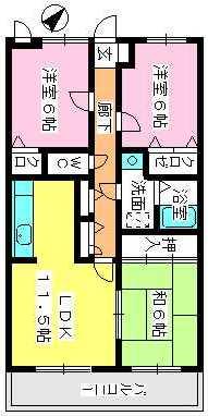 シャルム瑞雲 / 402号室間取り