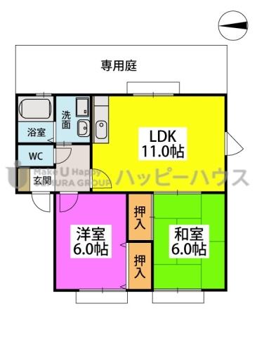 ティアラ渡辺 / 101号室間取り