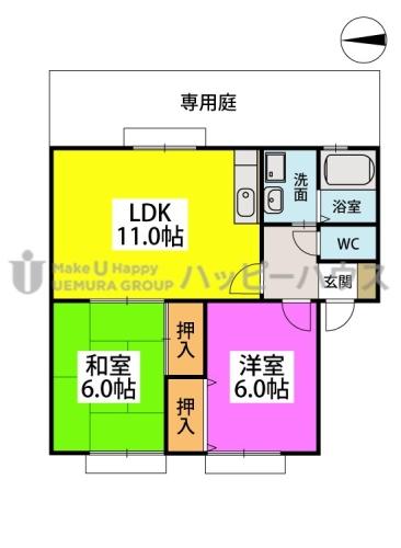 ティアラ渡辺 / 102号室間取り