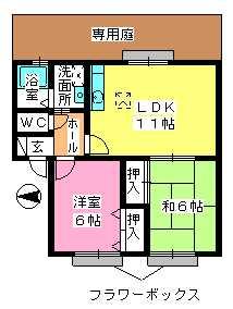 ティアラ渡辺 / 103号室間取り