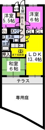 シャトレ弐番館 / 103号室間取り