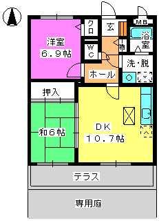 レジデンス俗明院 / 102号室間取り