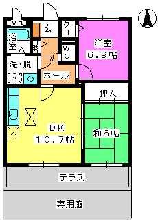 レジデンス俗明院 / 103号室間取り