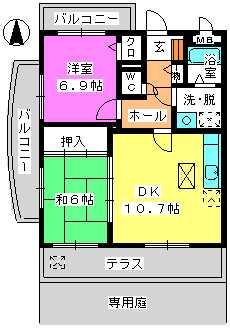 レジデンス俗明院 / 105号室間取り