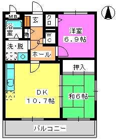 レジデンス俗明院 / 201号室間取り