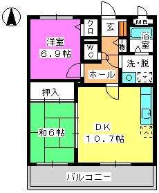 レジデンス俗明院 / 202号室間取り