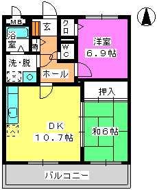 レジデンス俗明院 / 203号室間取り