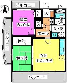 レジデンス俗明院 / 305号室間取り