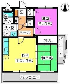 レジデンス俗明院 / 401号室間取り