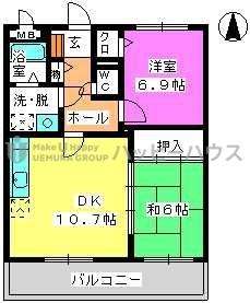 レジデンス俗明院 / 403号室間取り
