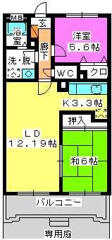 フルール98 / 102号室間取り