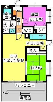 フルール98 / 103号室間取り