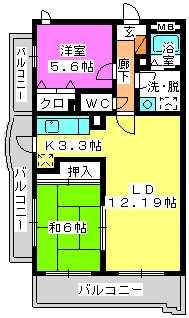 フルール98 / 201号室間取り