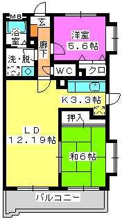 フルール98 / 203号室間取り