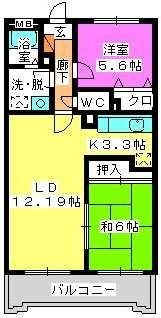 フルール98 / 302号室間取り