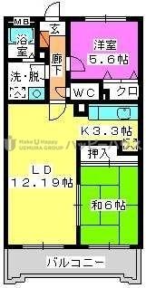 フルール98 / 402号室間取り