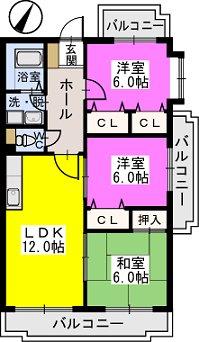 プレステージ塔原 / 506号室間取り