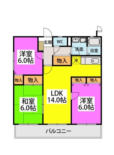 エクセレント中嶋Ⅲ / 105号室間取り
