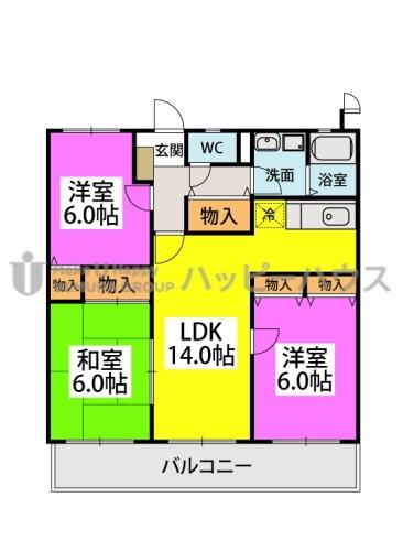 エクセレント中嶋Ⅲ / 502号室間取り