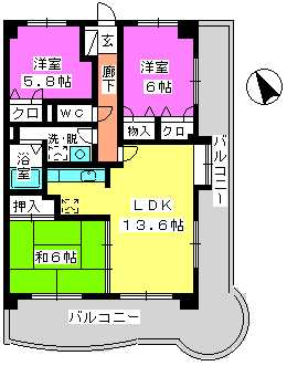 グランドゥール祥雲 / 301号室間取り