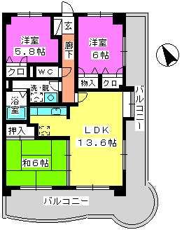 グランドゥール祥雲 / 701号室間取り
