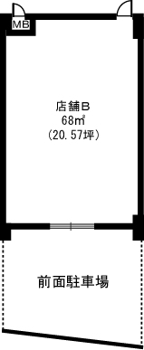 グランドゥール祥雲(店舗) / 店舗B号室間取り