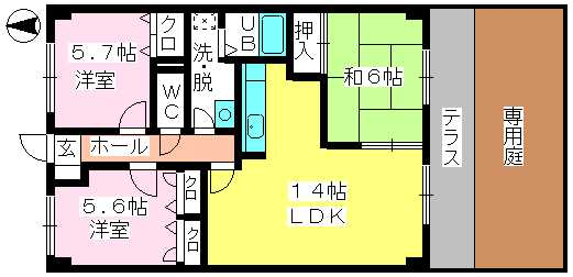 ディナスティⅧ / 102号室間取り