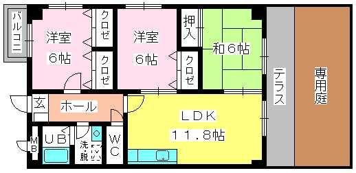 ディナスティⅧ / 106号室間取り