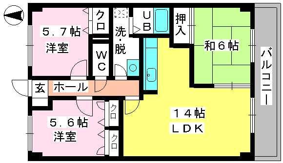 ディナスティⅧ / 402号室間取り