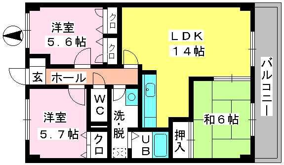 ディナスティⅧ / 505号室間取り