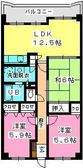 フォーレスト弐番館 / 302号室間取り