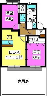 ティアラ観世音寺 / 103号室間取り