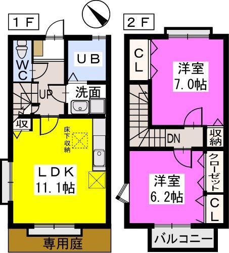 ティアラ戸田 / A101号室間取り