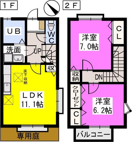 ティアラ戸田 / A102号室間取り