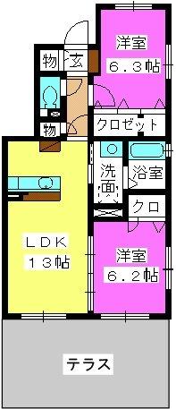 ステラ桜台 / 103号室間取り