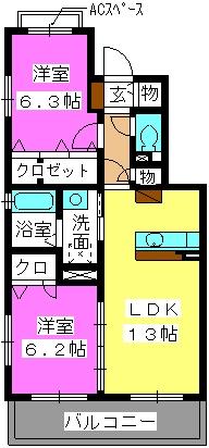 ステラ桜台 / 201号室間取り