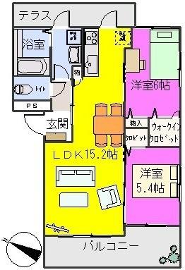 グランドール / B-301号室間取り