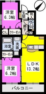 ソシア / 305号室間取り
