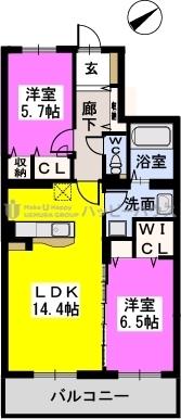 ステラルーチェ宰都 / 502号室間取り