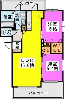エステート杉塚Ⅱ(ペット可) / 201号室間取り