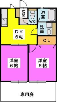サンライズ吉松Ⅱ / 101号室間取り