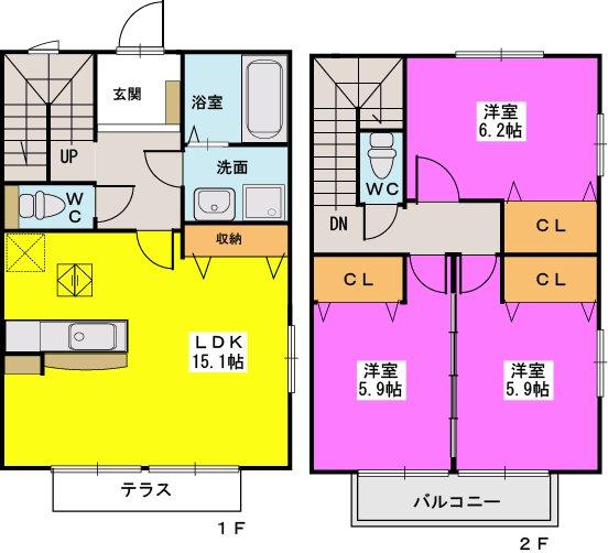 ロータス / C-5号室間取り