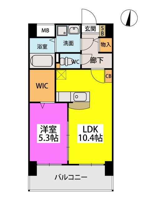 (仮)二日市南3丁目マンション / 202号室間取り