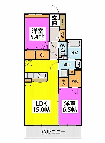 仮)プレアev湯町3丁目マンション / 203号室間取り