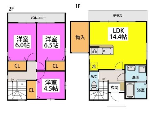 仮)タウンハウス石崎 / 102号室間取り