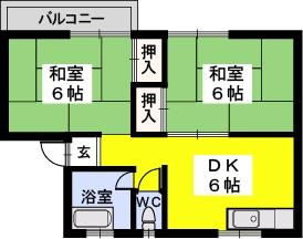 岡部アパート / 305号室間取り