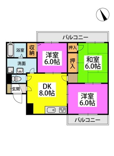 ※トーカンマンション平尾 / 304号室間取り